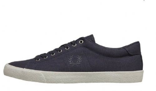 Fred Perry Men's Underspin Graphite Grey Canvas Logo Trainers Shoes UK6.5 EU40